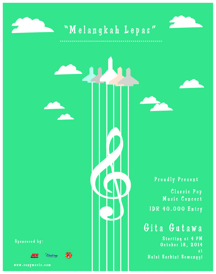 Poster illustration of Gita Gutawa
