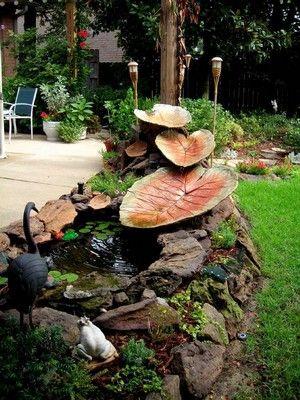 Leaf Casting Fountain