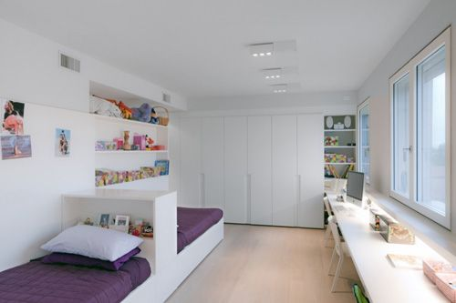 Shared room - love the simplicity and modern style of this!