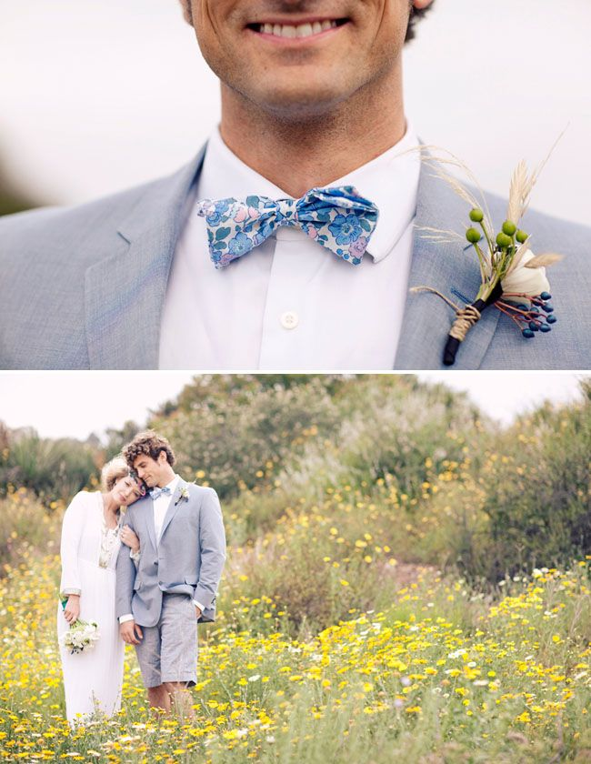 groom in bow tie - http://greenweddingshoes.com/a-food-truck-wedding/# http://food-trucks-for-sale.com/