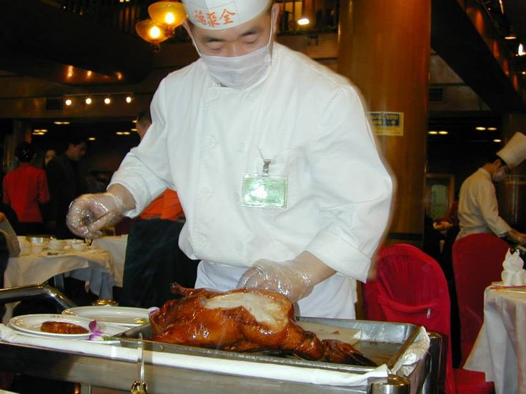 Tradizionale kao ya (烤鸭), l'anatra alla pechinese da Bianyifang, Beijing, China.