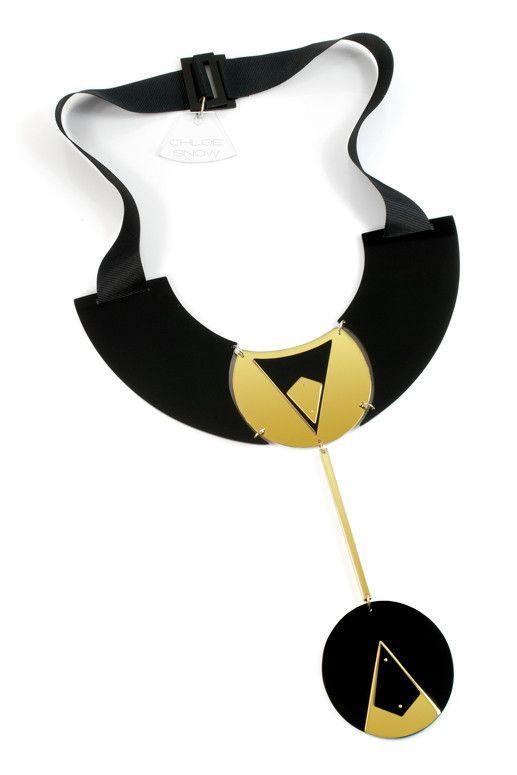 Pendulum Necklace - Geometric Jewellery Collection by Chloe Snow
