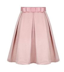 #MYTRENDTWOWARDROBE Pink Bow Pleated A-Line Skirt soft pink is the IT colour of the season