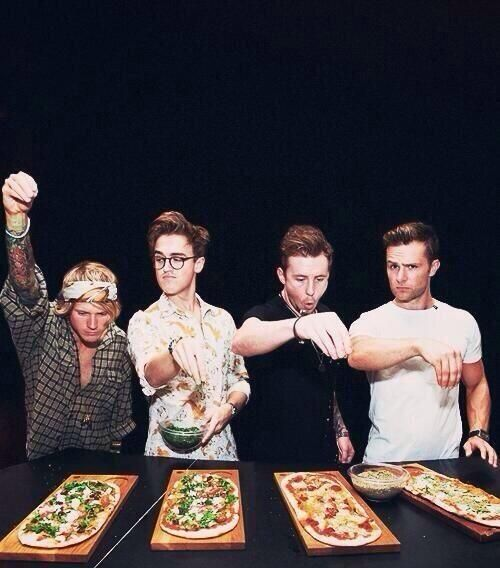 McFly making pizzas?  Twitter / phoebsmcfly