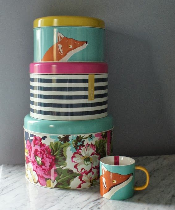 Cake Tins & Fox Mug From Joules.com. Think I might get these for my mum this christmas :D Such a cute gift