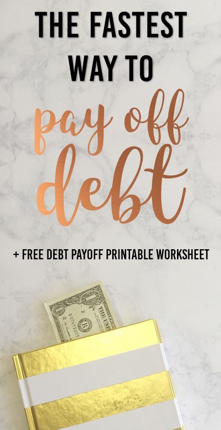 The Fastest Debt Payoff Method | The Practical Penny | The fastest way to pay down your debt by paying off the highest interest rate first. Don't forget to negotiate your interest rates and balance due. Download the free printable!