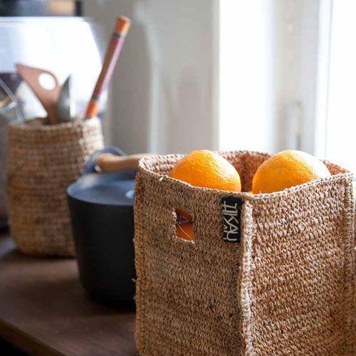 Various banana fiber baskets by TIKAU