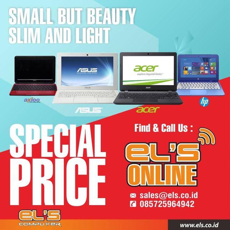 Tersedia notebook berbagai merk di Els Computer. Bisa order online via els.co.id #els #elscomputer #yogyakarta #solo #purwokerto  info --> www.els.id/ SMS/WA --> 085725964942 BBM PIN --> 56083D42 Email --> sales@els.co.id