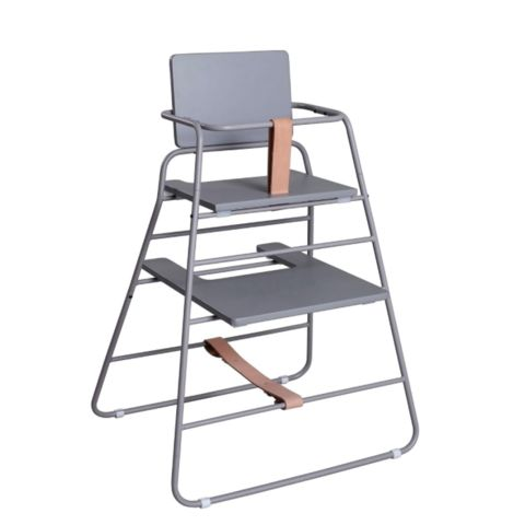 TOWER CHAIR BY BUDTZBENDIX - GREY AND BROWN