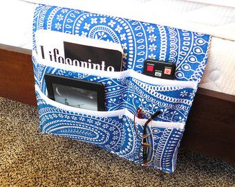 Bedside Caddy Bedroom Pocket Organizer by VermontCottageWorks