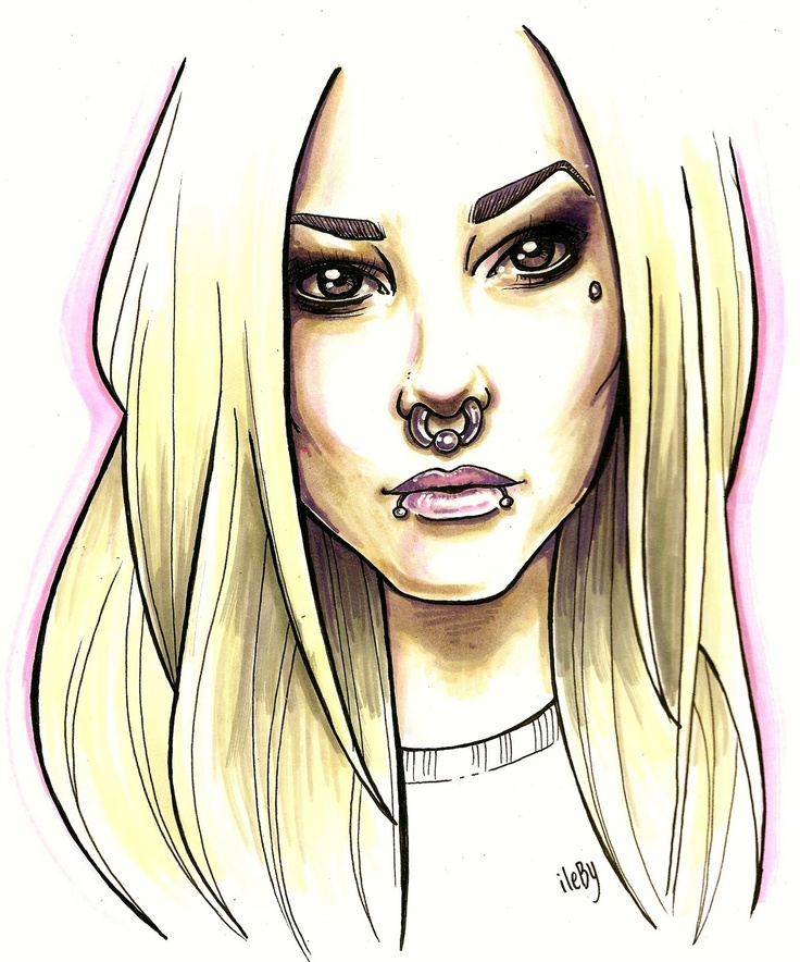 girl with nose ring illustration (Anna Ritar)