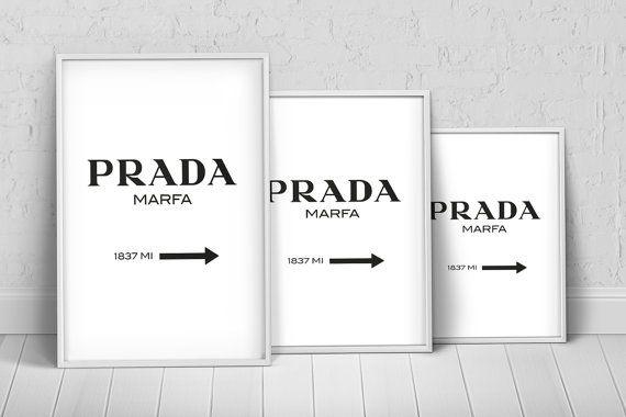 Prada Marfa Sign Art Print Poster on Etsy, $27.35 AUD