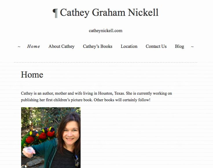 """Build My Own Website.""  DONE: 2014.  Go visit my site at www.catheynickell.com"