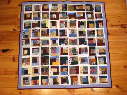 Wonky log cabins - another charity quilt.
