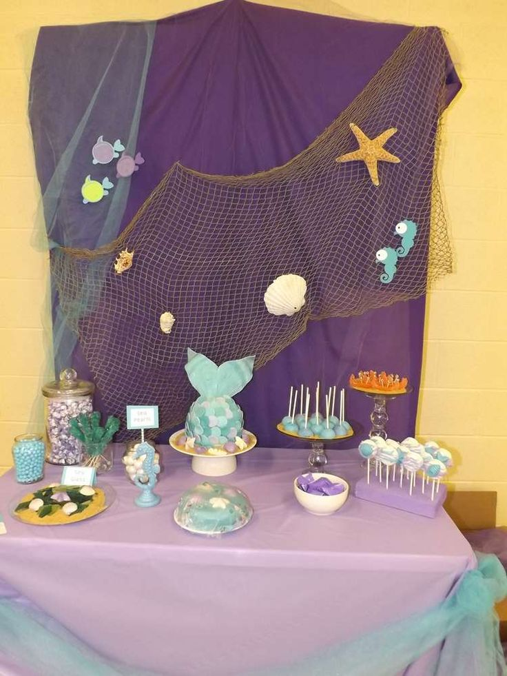 Fun and creative under the sea birthday party! See more party planning ideas at CatchMyParty.com!