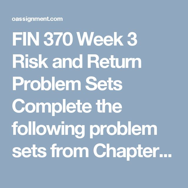 fin 370 financial leverage problem week 5 chapter 20 Fin 370 week 1 calculating ratios review the financial statements for lake of egypt marina, inc complete the following problem sets from chapter 3 in microsoft® excel®: 3-29 spreading the financial statements.