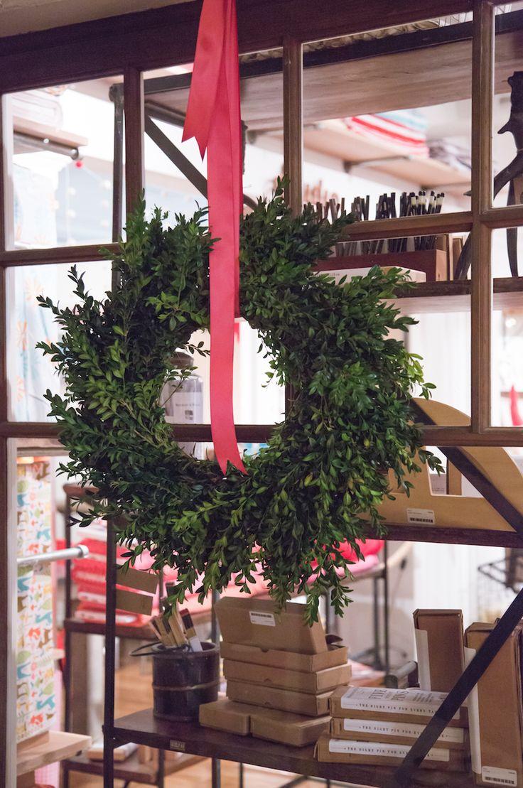 Handmade wreath from the Botanist.