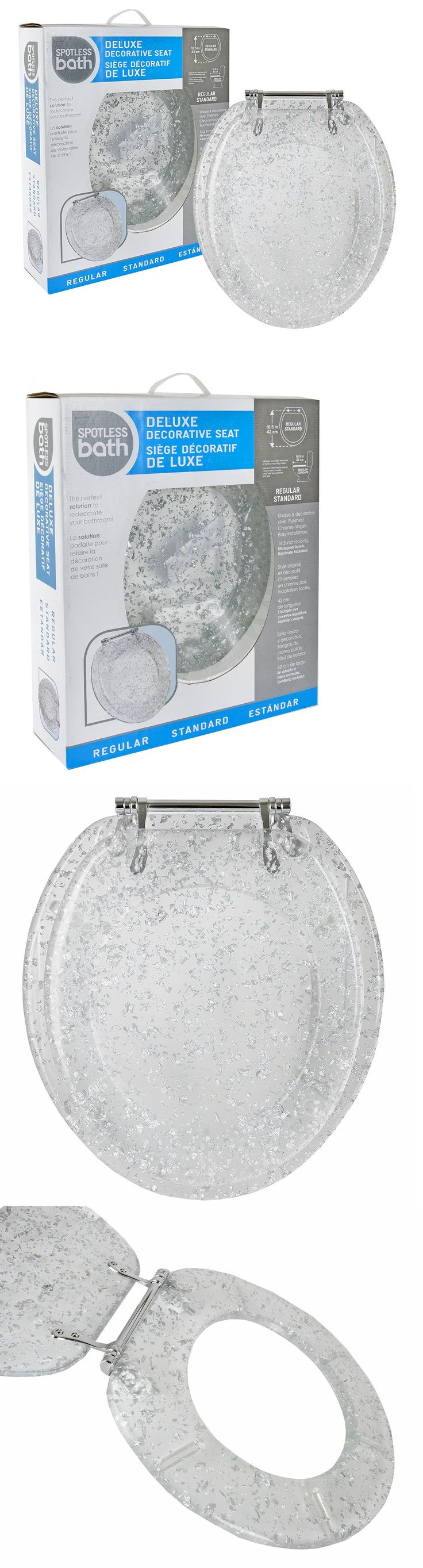 Toilet Seats 37637: Silver Foil Resin Acrylic Toilet Seat, Standard Round With Chrome Hinges -> BUY IT NOW ONLY: $69.99 on eBay!