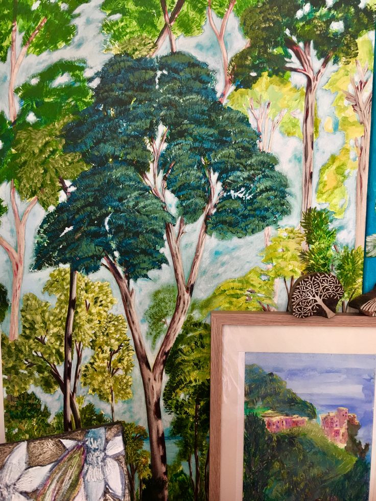 Trees - acrylic on canvas