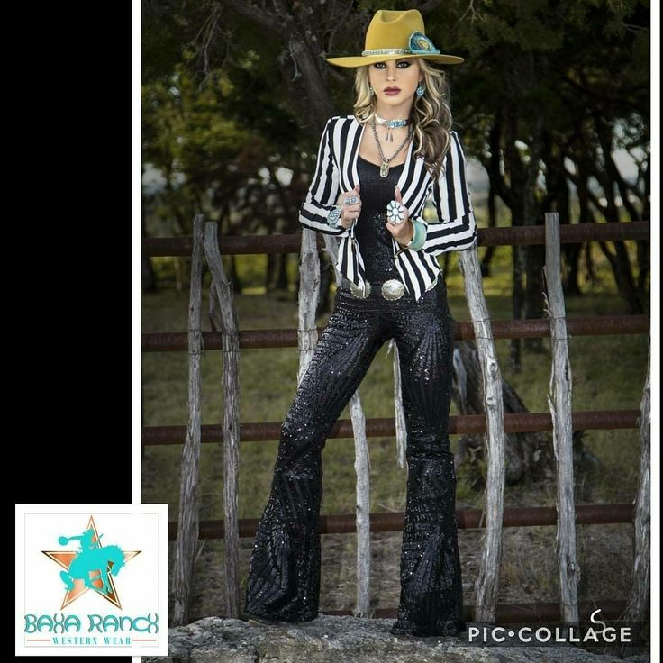 That's @westernatelier featuring our STRIPE BLAZER!! smokin!! Cowgirl gypsy boho glam Vegas NFR fashion western vogue www.Baharanchwesternwear.com