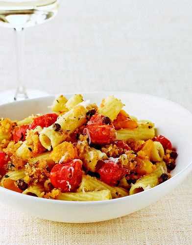 Pasta Ponza #recipe I always add lots of fresh garlic to the tomatoes and use Parmesan