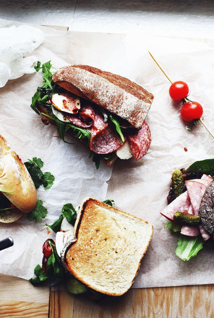 meat sandwich. .