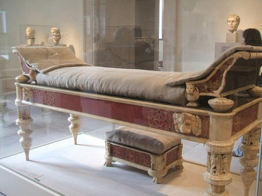 "(Chapter 5): A Lectus Adversus is a Roman style bed usually found in the atrium of a home with steps next to it. Another name for this type of bed was the ""bridal bed""."