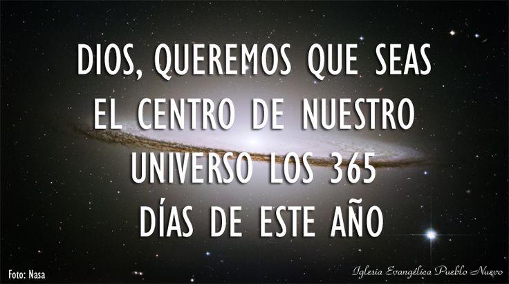 """Dios, queremos que seas el centro de nuestro universo los 365 días de este año. Amén.  """"Cuídate de no olvidar al SEÑOR tu Dios"""" (Deuteronomio 8:11-18) http://www.iglesiapueblonuevo.es/index.php?query=Deuteronomio+8:11-18&enbiblia=1  #VersiculosParaTodos #Universo #NASA #GalaxiaDelSombrero #Galaxia #Estrella #Firmamento #Hubble #telescopio"""