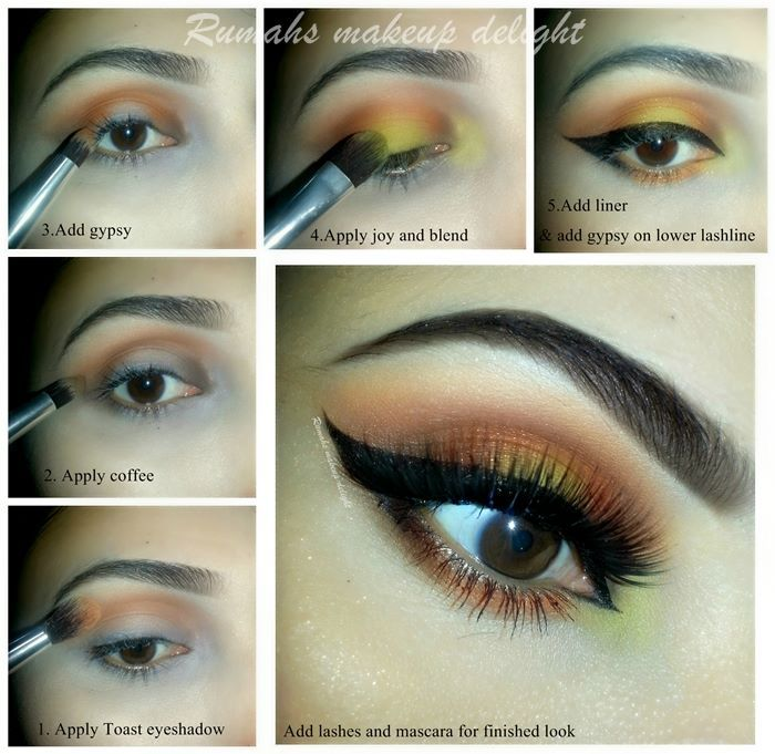 Party Wedding Bridal Eyes Makeup Tips 2015 Eyeshadow Tutorial Step By For Brown Pics Pakistan