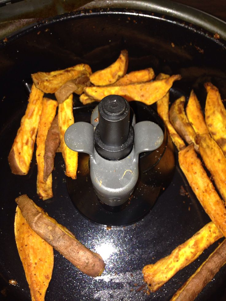 Sweet potato fries with skins on! Done in the tefal actifry beautiful!