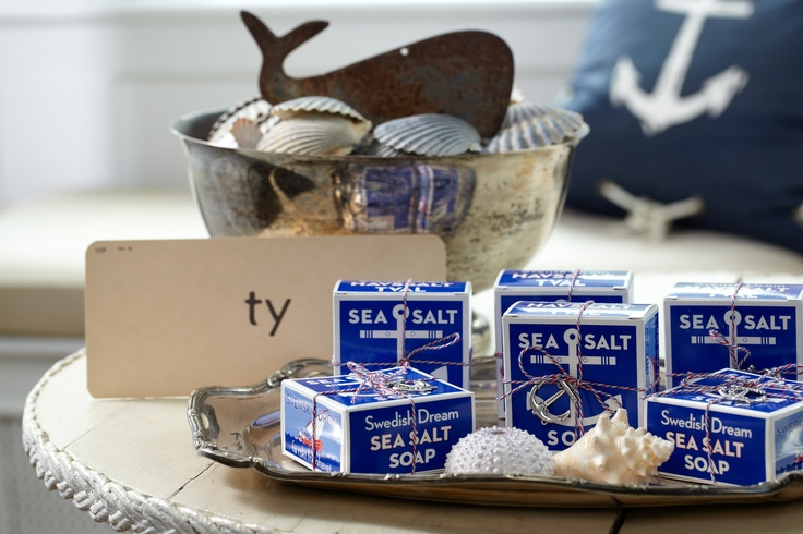 Mineral-Rich Sea Salt Soaps. A great favor idea for guests to keep things shipshape even after they head home.