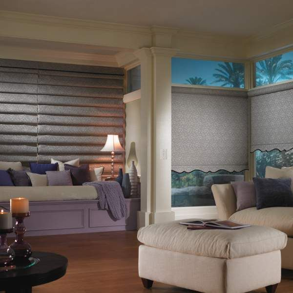 Bali Roller Shades: Roller shades are a retro window treatment with a modern sensibility they are both stylish and functional and perfect for any decor. Sheer/translucent fabrics feature a low privacy rating when privacy is not a concern. Patterned light filtering roller shade fabrics coordinate with Bali roman and pleated shades. Pearlized and solid blackout roller shades are the perfect choice for media rooms and any room where complete privacy is desired.