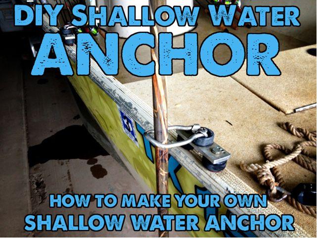 Max Gain Systems Inc Diy Shallow Water Anchors