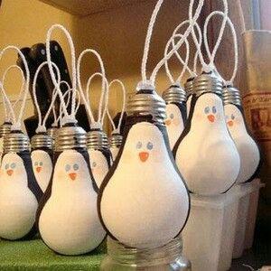 bombillas gastadas para navidad..