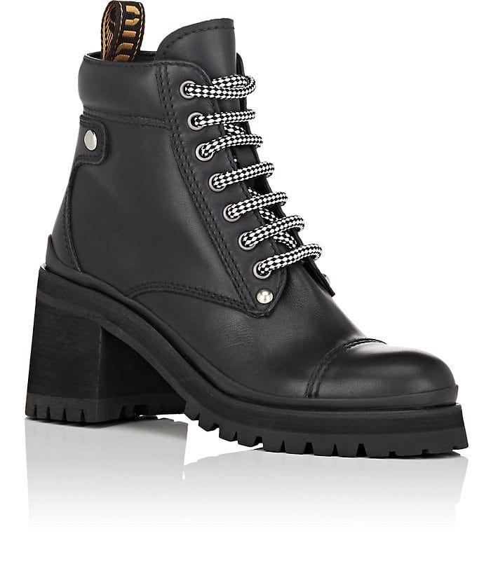 f7435871894 Miu Miu Lug-Sole Leather Ankle Boots in 2019 | // WISHLIST | Boots ...