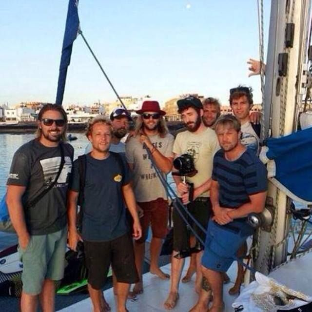 """""""Boat trip with the goo people of www.lobosinacatamaran.com took us out on a surf excursion today, we scored some nice sliders too. Thanks guys. #surfholidays"""" ~ Keith Harkin"""