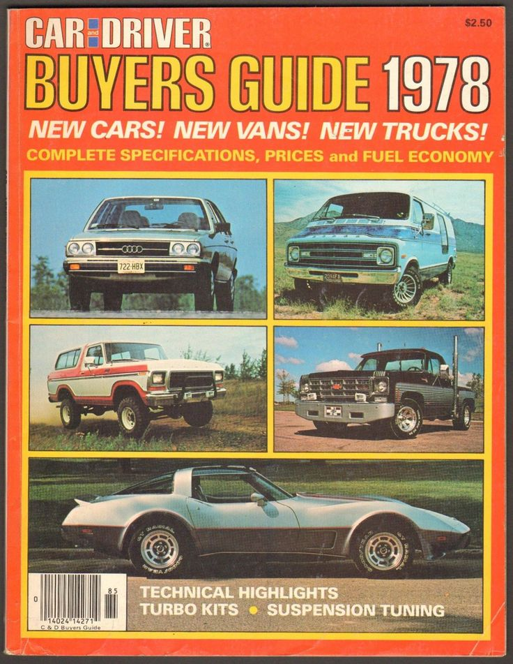 1978 Car And Driver Magazine Buyers Guide New Cars Vans