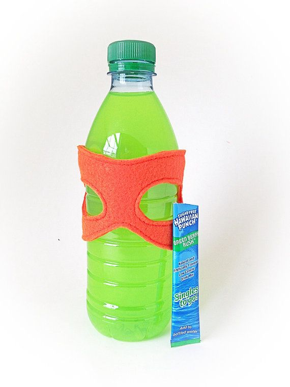 Ninja Turtle Birthday Party Favor. Love this idea! These are masks that can be removed from the bottle and then worn by the kids. Great idea! Forget the boring favor bags, I'm doing this instead!