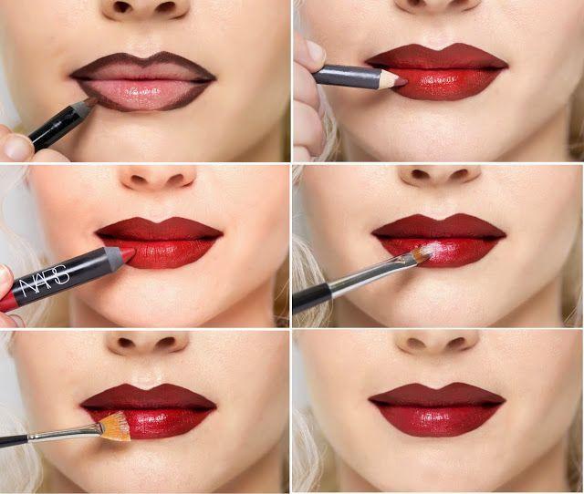 Marilyn Monroe - Lipstick Contouring Trick http://www.cosmopolitan.com/style-beauty/beauty/news/a39492/marilyn-monroe-lipstick-tutorial/