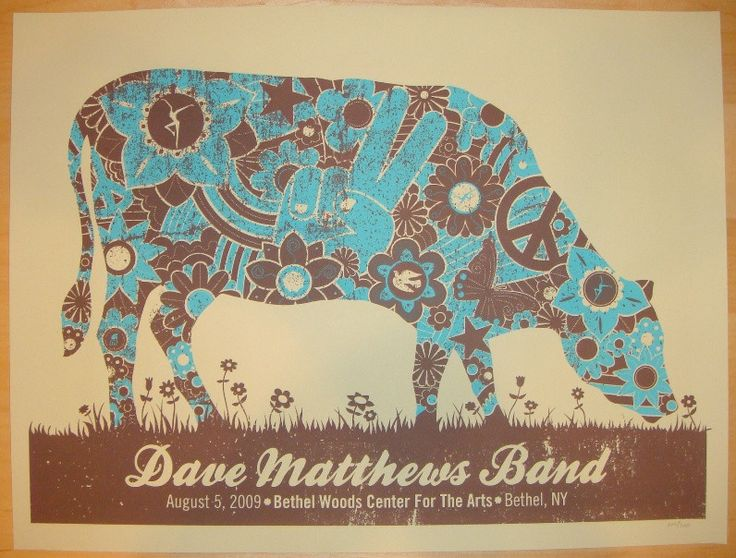 2009 Dave Matthews Band - Bethel Concert Poster by Methane