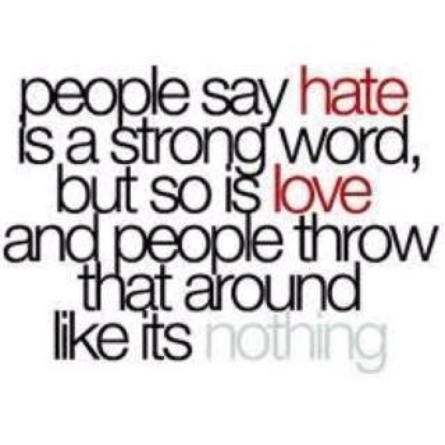 Hate vs Love Quotes for Life Pinterest