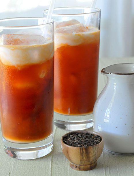 thai iced tea cha yen ชาเย็น styled tea thai styled drink ...