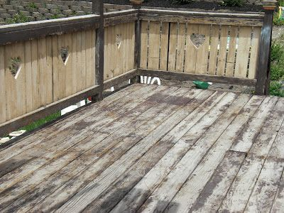 #Deck Restore Paint Before and After Pictures. This stuff is amazing! Get #Deck #Restore at #Home Depot in the paint department.