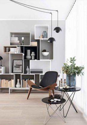 Lampadas pendentes com fiação aparente -77 Gorgeous Examples of Scandinavian Interior Design Modern-Scandinavian-office