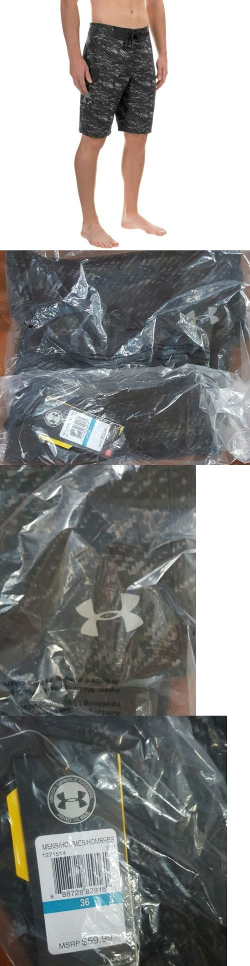 Men 140041: Under Armour Mens Reblek Boardshorts Board Short Swim Trunks Granite Camo Nwt BUY IT NOW ONLY: $38.0