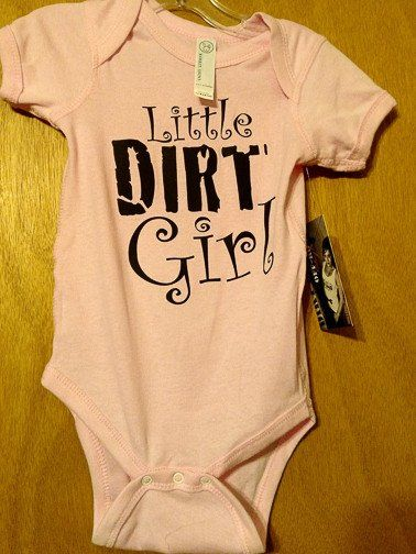 Little Dirt Girl Onesie.  Need a onesie for your little dirt girl?  Check out dirtgirloffroad.com and order yours today!