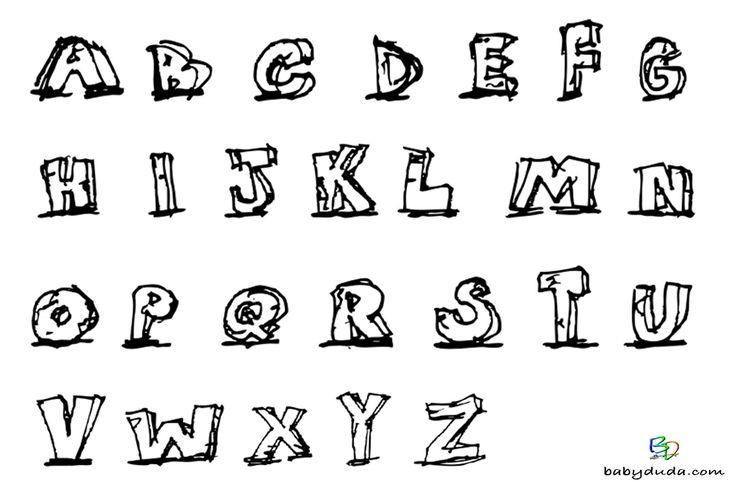 buchstaben ausmalen alphabet malvorlagen az  babyduda