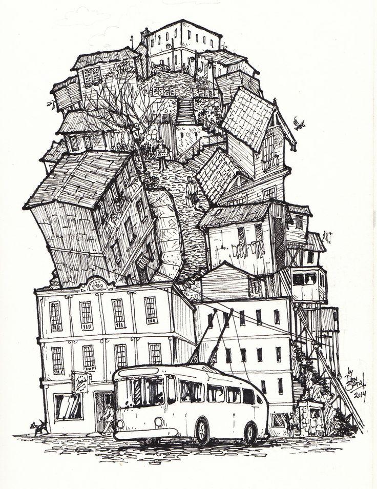 Sketchy, illustrative. Valparaíso by DonSATA (via Creattica)