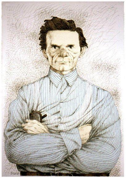 Tullio Pericoli Pier Paolo Pasolini, 1988 watercolours and ink on paper