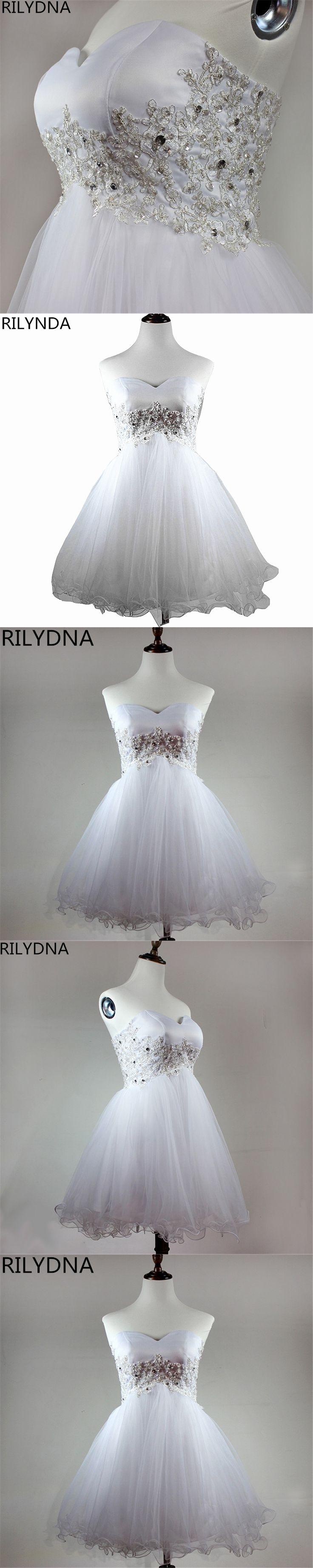 White champagne Beaded Lace Appliques Short Prom Dresses 2017 homecoming dresses vestido de festa Knee Length Party gala dress